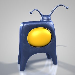 3d model cartoon television