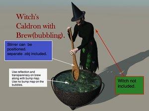 3d witch caldron