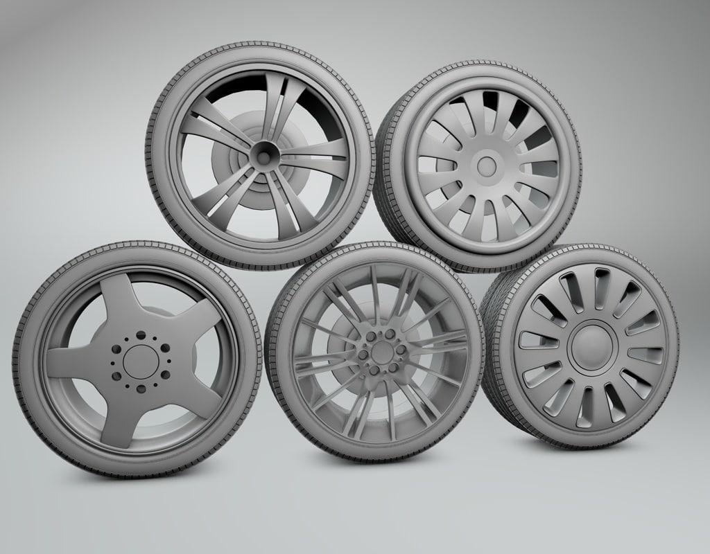 wheels tyres c4d