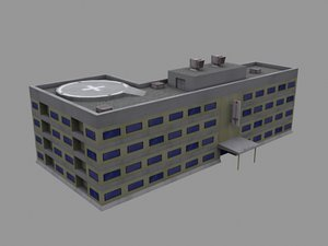 3ds max hospital building