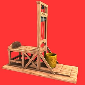 3d model french guillotine
