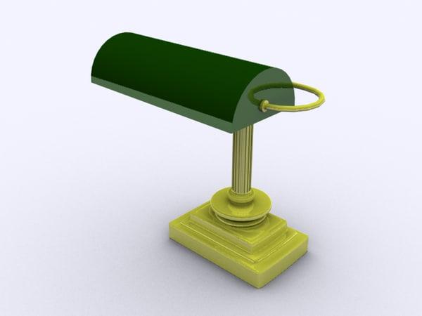 posh desk lamp 3d 3ds