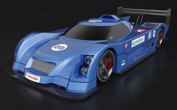 le mans racing car 3d model