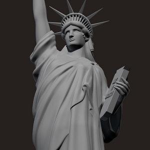 statue liberty obj