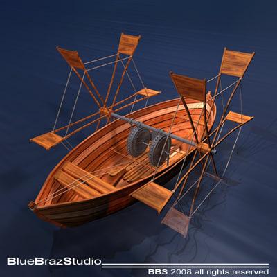 leonardo boat shovels 3d 3ds