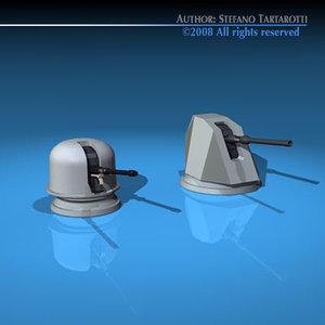 3d model oto melara navy guns