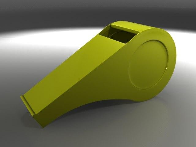 3d model plastic whistle
