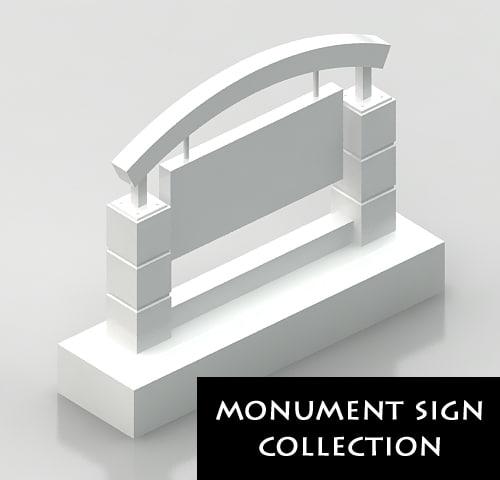 3d model monument sign 1