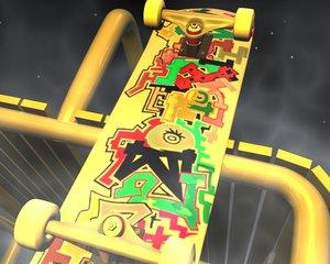 3d skateboard model