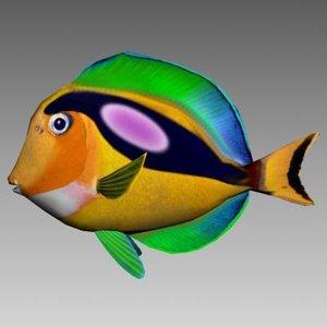 3d sea fishes 3 manta model