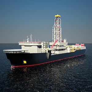 3d model mobile drilling ship