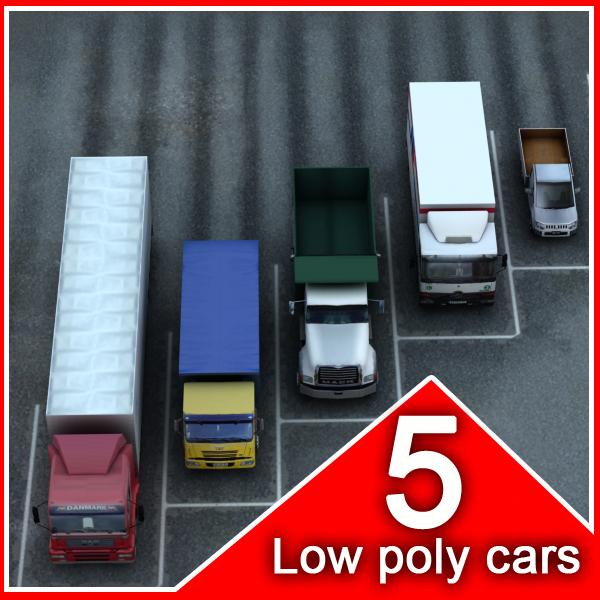5 trucks vehicles max