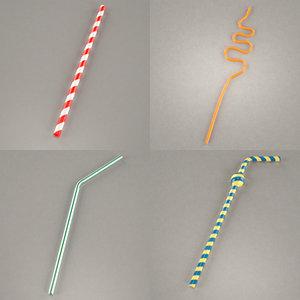 3dsmax drinking straws