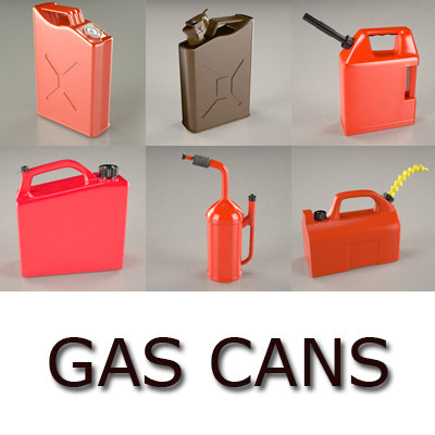 3d gas cans model