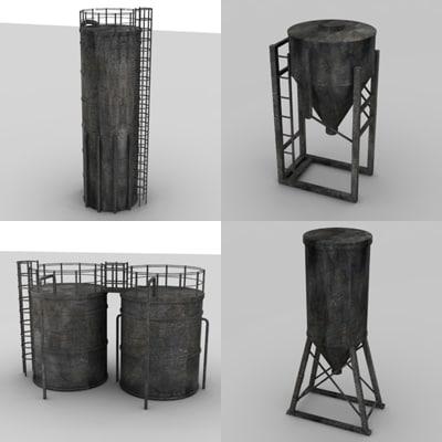 silos 3d 3ds