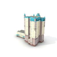 3d 3ds low-poly building 13