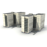 3dsmax low-poly building 15