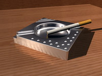 metal ash tray ashtray 3d model