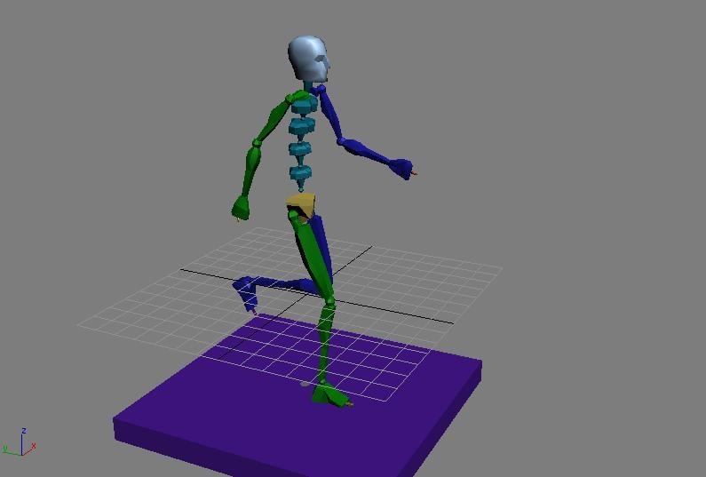 human walking 3d max