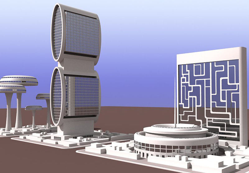 3d model future buildings 1