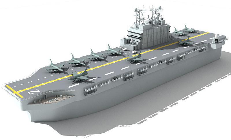 assault ship 3d model