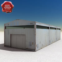 3d model barn modelled