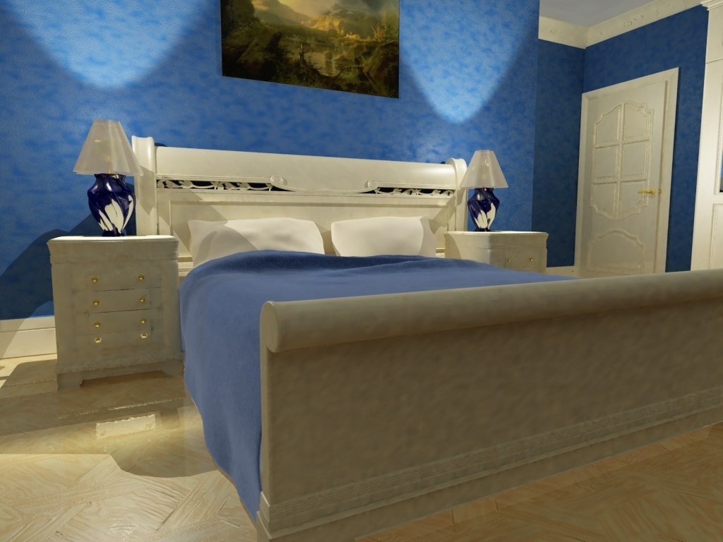 3d classic bedroom model
