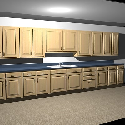 kitchen cabinets - complete dxf