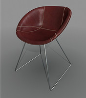 3d model chair gliss cuoio