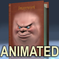 3ds max talking cartoon face book