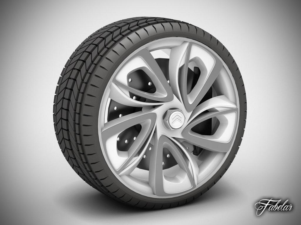 citroen gt wheel tyre 3d max
