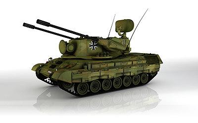 german tank gepard 3d model
