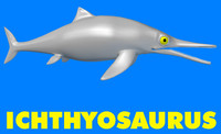 3d ichthyosaurus dinosaur
