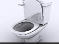 toilet 3d 3ds