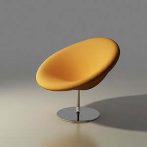 artifort chair design pierre paulin 3d max