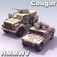Cougar_MRAP-&-M1114_HMMWV_Multi