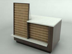 3d model magazine display counter