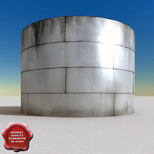 oil tank v6 3d 3ds