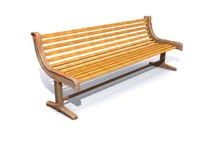 3d model seaside park bench