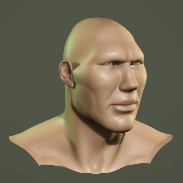 3d model boxer head