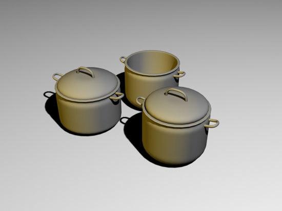 stock pot 3d model