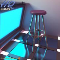 3d stool 01 model