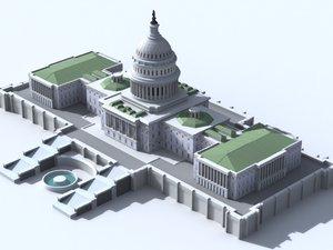 united capitol building d 3d max
