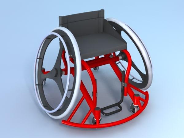 3d wheelchair sports model