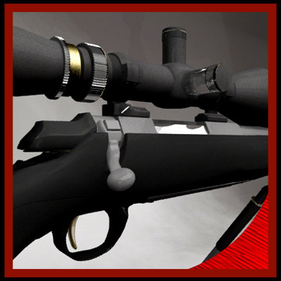 3dsmax x-bolt rifle bolt action