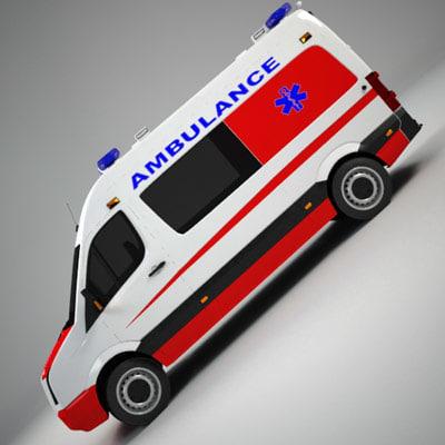 3d european ambulance