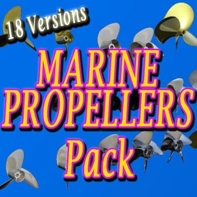 3d propeller assortment pack model