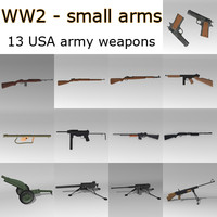 small arms usa ww2 weapon 3ds