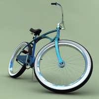 3d model beach cruiser bicycle