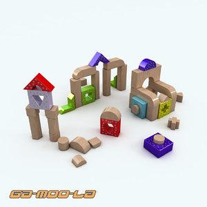 childrens blocks 3d model